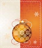 Orange Christmas ball Royalty Free Stock Image