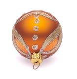 Orange christmas ball Stock Images