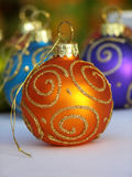 Orange Christmas bauble Royalty Free Stock Image