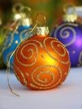 Orange Christmas bauble Royalty Free Stock Image