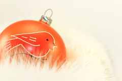 Orange Christmas Bauble Royalty Free Stock Photos