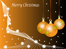 Orange Christmas Baubles Royalty Free Stock Photography