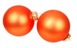 Orange Christmas decoration Stock Photography