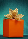 Orange christmas gift Stock Images