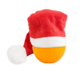 Orange in Christmas hat Stock Images