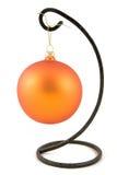 Orange christmas ornaments Stock Images