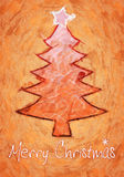 Orange christmas tree Stock Photography