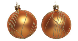 Orange Christmas tree ball Stock Images