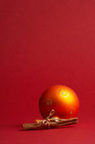 Orange christmas tree ball - orange Weihnachtskugel Stock Photography