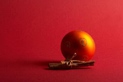 Orange christmas tree ball - orange Weihnachtskugel Royalty Free Stock Photo