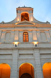 Orange church facade Royalty Free Stock Photos