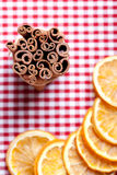 Orange and Cinnamon Royalty Free Stock Photography