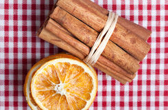 Orange and Cinnamon Royalty Free Stock Photos
