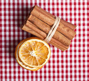 Orange and Cinnamon Stock Image