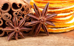 Orange with Cinnamon and Anise Royalty Free Stock Photo