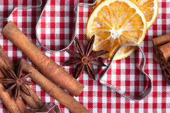 Orange Cinnamon and Anise Royalty Free Stock Photos