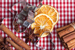 Orange Cinnamon and Anise Royalty Free Stock Image