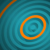Orange circle. In turquoise, abstract background Stock Photography