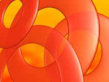 Orange circle abstract Royalty Free Stock Image