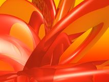 Orange circle abstract Stock Image