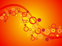 Orange Circle Background Royalty Free Stock Photography