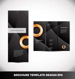 Orange circle black brochure vector layout Stock Photos