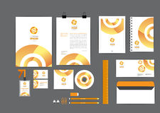 Orange with circle corporate identity template  for your business Royalty Free Stock Photography