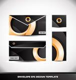 Orange circle envelope design template vector Stock Photo