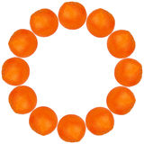 Orange in a circle Royalty Free Stock Photography