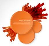 Orange circle. Ray and explosion. Design web illustration Stock Photography