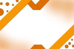 orange circle and ribbon abstract background Royalty Free Stock Photos