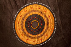 Orange circle texture Royalty Free Stock Photography
