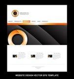 Orange circle website design template corporate business Royalty Free Stock Photos