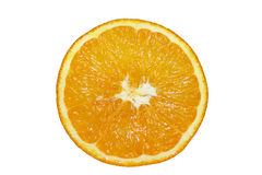 Orange circle. On a white background Stock Photos