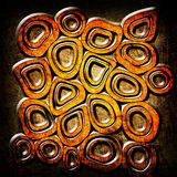 Orange circles grunge background Royalty Free Stock Photography