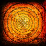 Orange circles grunge backgrouns Stock Photos