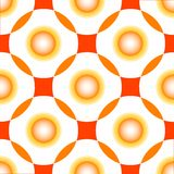 Orange circles seamless pattern Stock Photo