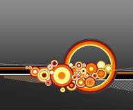 Orange circles. Vector. Orange circles on grey background. Vector Vector Illustration