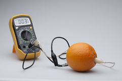 Orange circuit Stock Image