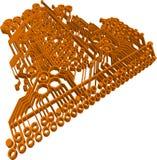 Orange Circuit Royalty Free Stock Images