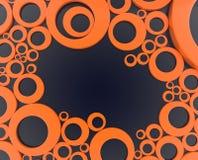 Orange cirkel - illustration 3d Royaltyfri Foto