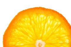 Orange cirkel på vit bakgrund Arkivfoto