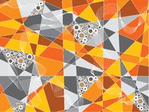 orange cirkelfragment Royaltyfri Foto