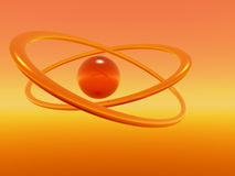 orange cirklar Arkivbilder
