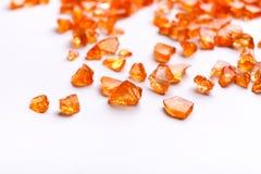 Orange Citrine gemstones on white background Royalty Free Stock Images