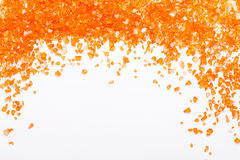 Orange Citrine gemstones on white background Stock Photos