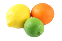 Orange citron, limefrukt Arkivfoto