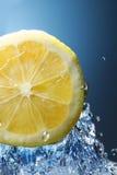 Orange citrus in blue water Stock Image