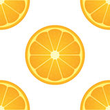 Orange citrus fruit. Healthy vegan food  illustration. Seamless pattern Royalty Free Stock Image