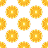 Orange citrus fruit. Healthy vegan food  illustration. Seamless pattern Stock Images